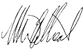 Mark Gilbert signature